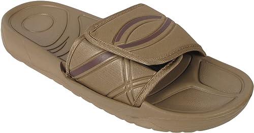 Mens Flip Flop Velcro Slide Lightweight