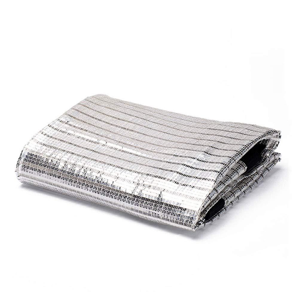 Zh Schattierungsnetz Aluminiumfolien-Schattennetz, Markisen, Sun Netting, Sonnenschutzgitter, Überdachungen Zeltstoff Plane Segel, Geeignet für UV-Besteändigen Schutz Privatsphäre, Mehrere Größen