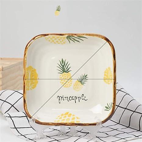ZGCP Plato de cerámica plato creativo pintado a mano plato de ...