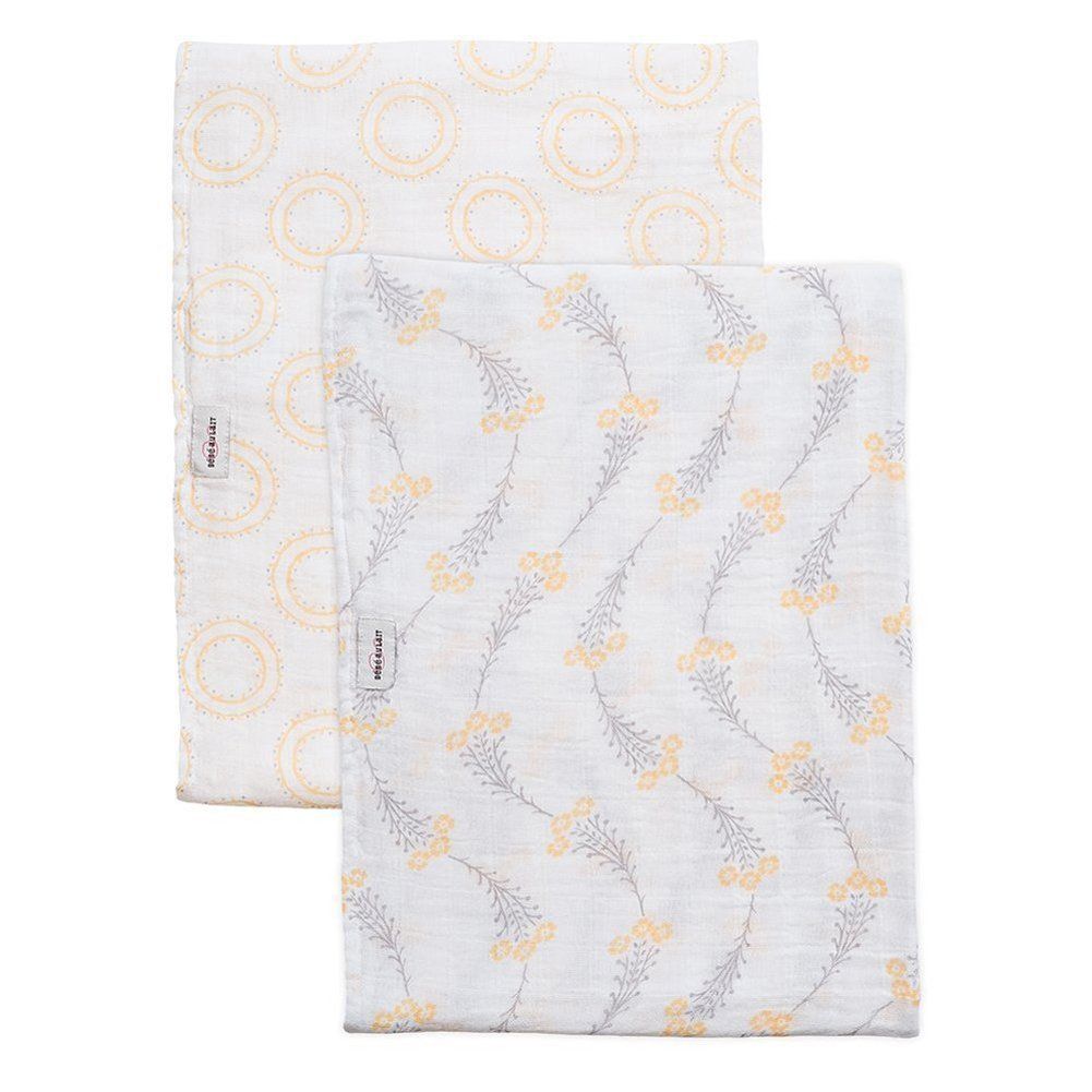 Bebe au Lait Muslin Swaddles Set (Wildflower/Halo) SWAWH