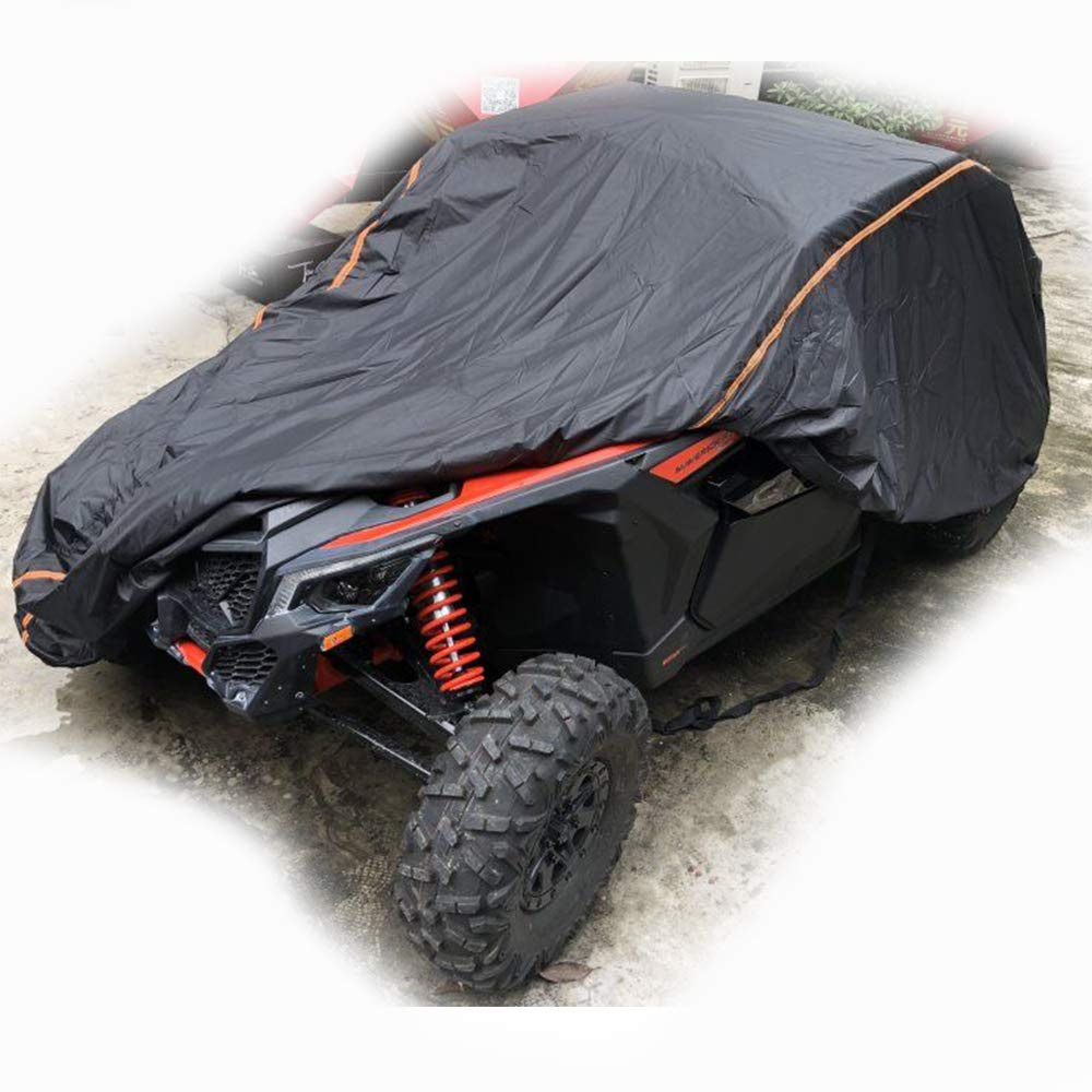 UTV Cover for 2015 2016 2017 2018 2019 Can Am Maverick X3 X RS DS with Relective Strip to Protect Your SxS Vehicle from Rain, Snow, Dirt, Debris and Damaging UV Rays by kemimoto