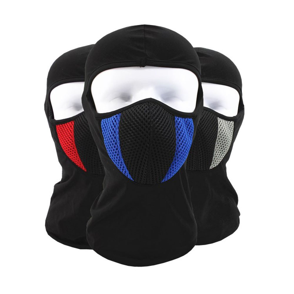 Glumes Face Mask Windproof Sun Dust Cold Snow Rain Protection Solid Color Tactical Mask Bandana Face Shield Warm Scarf Motorcycle Fishing Hunting Cycling Skiing Autumn Winter (Blue)