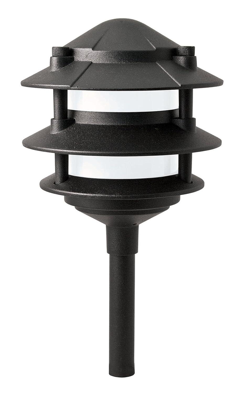 Paradise Laurentide Low Voltage 11W/12V 3 Tier Walklight, GL22764, Black