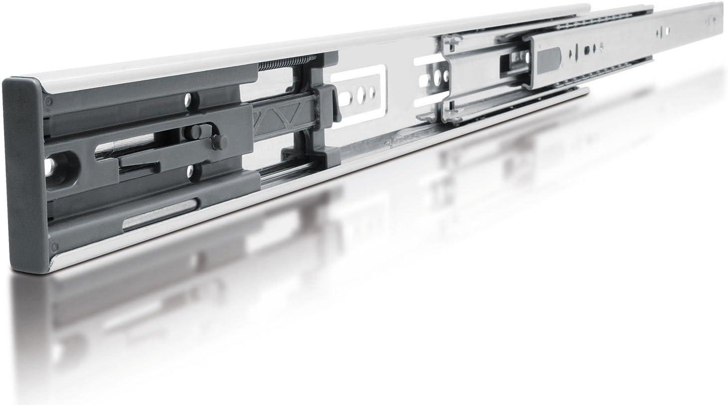 Glissi/ères de tiroir diapositive Chemin de roulement /à extension compl/ète 1/Paire 250mm 1 Pair