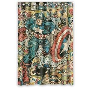 Custom unique design cartoon anime superhero captain america waterproof fabric - Captain america curtains ...