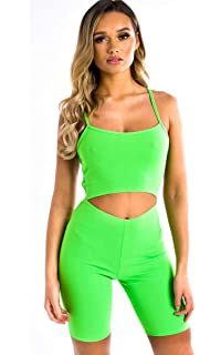 IKRUSH Womens Imo Cut-Out Crossover Stretch Unitard