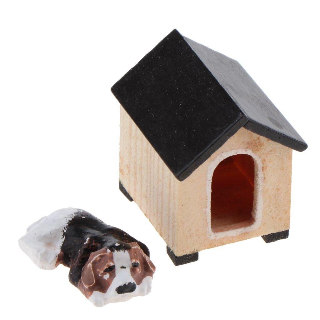 Melody Jane Casas de Muñecas Tumbado Perro Mascota en miniatura escala 1:12