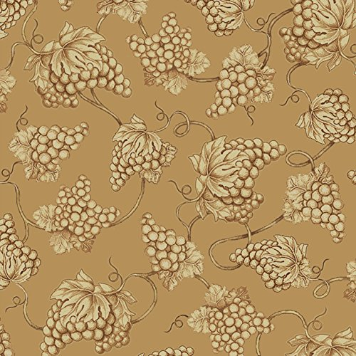 Vineyard Haven Grape Toile Fabric Tan from Quilting Treasures by The Yard