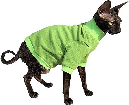 Kotomoda Ropa para Gatos Jersey de algodón Lime (M): Amazon.es: Productos para mascotas