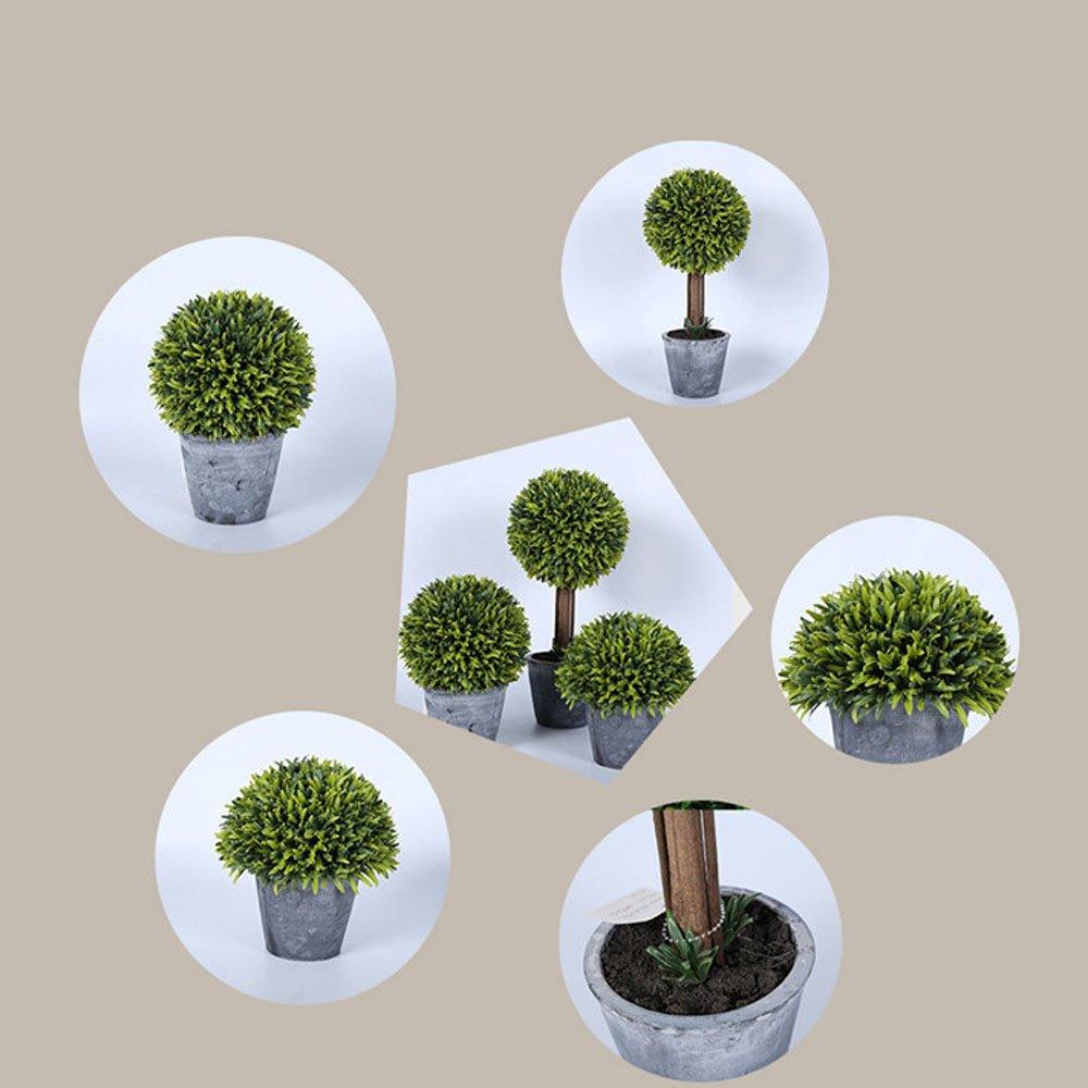 KAIMO artificial decorative plant lucky grass bonsai potted plant garden room hotel company company school decoration - green