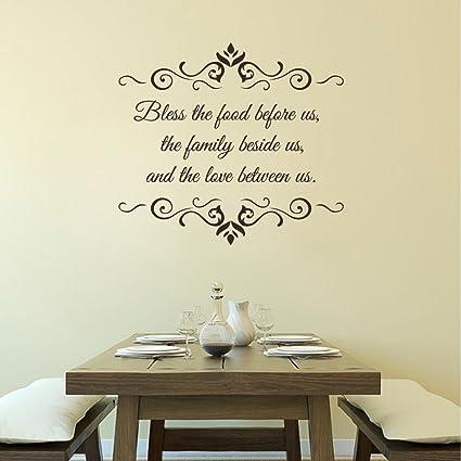 Bendiga la comida antes de nosotros vinilo letras para pared ...
