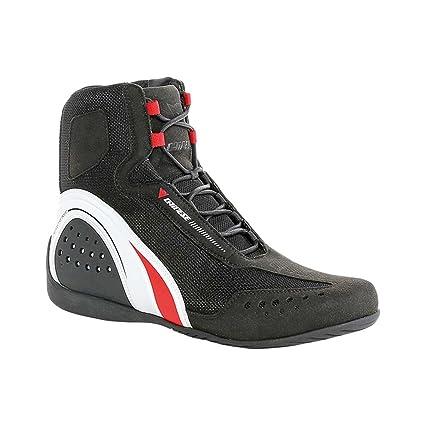 c3c817bf9 Amazon.com  Dainese Motorshoe Air Mens Shoes Black White Red 42 Euro 9 USA   Automotive