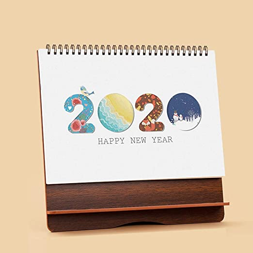 DEI QI Calendario de Escritorio 2019-2020: 10x9.3 Uso Ahora a ...