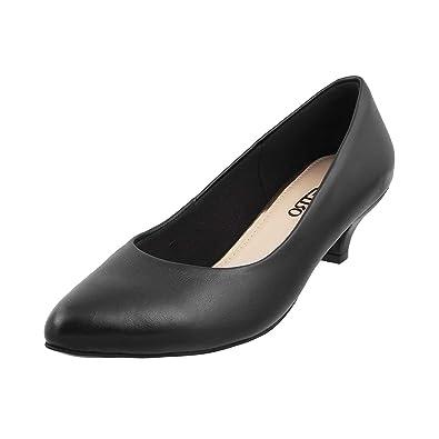 bf91b28a7deff Metro Women Black Leather Pumps (31-7913) (31-7913-11-BLACK): Buy ...