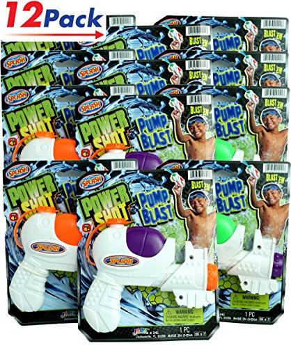 Toy Guns by JA-RU | Swimming Pool Kids Toys Super Soaker Water Gun Splash Your Friends Pack of 12 | Item #241 (Gun Splash)