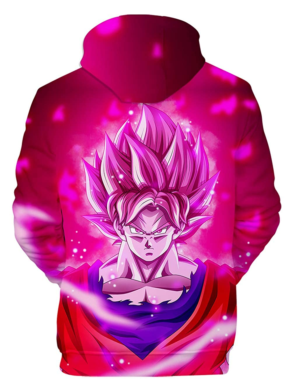 HUASON Gar/çon Fille Enfants Dragon Ball 3D Imprimer Pull /à Capuche Sweat /à Manches Longues Imprim/é avec Motif Super Goku et Saiyan Broly