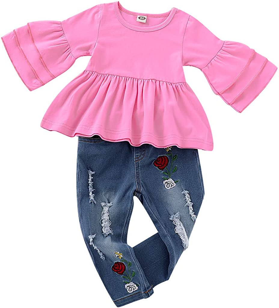 Baby Jeans Overall Jungen M/ädchen Revers Langarm Denim Strampler Outfit Infant Jeans Body Kleidung