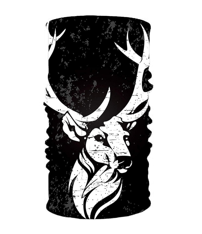 Headband White Deer In Black Headwear Sport Sweatband Yoga Head Wrap For Men Women