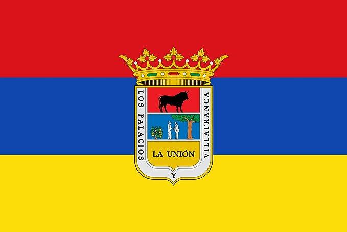 magFlags Bandera Large Palacios y Villafranca, Sevilla, España   Bandera Paisaje   1.35m²   90x150cm: Amazon.es: Jardín