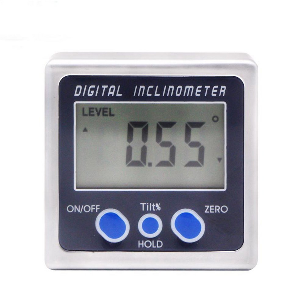 Saili Digital Bevel Box Angle Gauge Meter Digital Protractor 360 degrees Magnets Base Digital Inclinometer Electronic Protractor with Battery