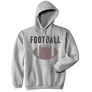 Vintage Football Sweater Cool Sports Funny Graphic Novelty Shirts for Men  Hoodie (Grey) 3XL 5360627342c7