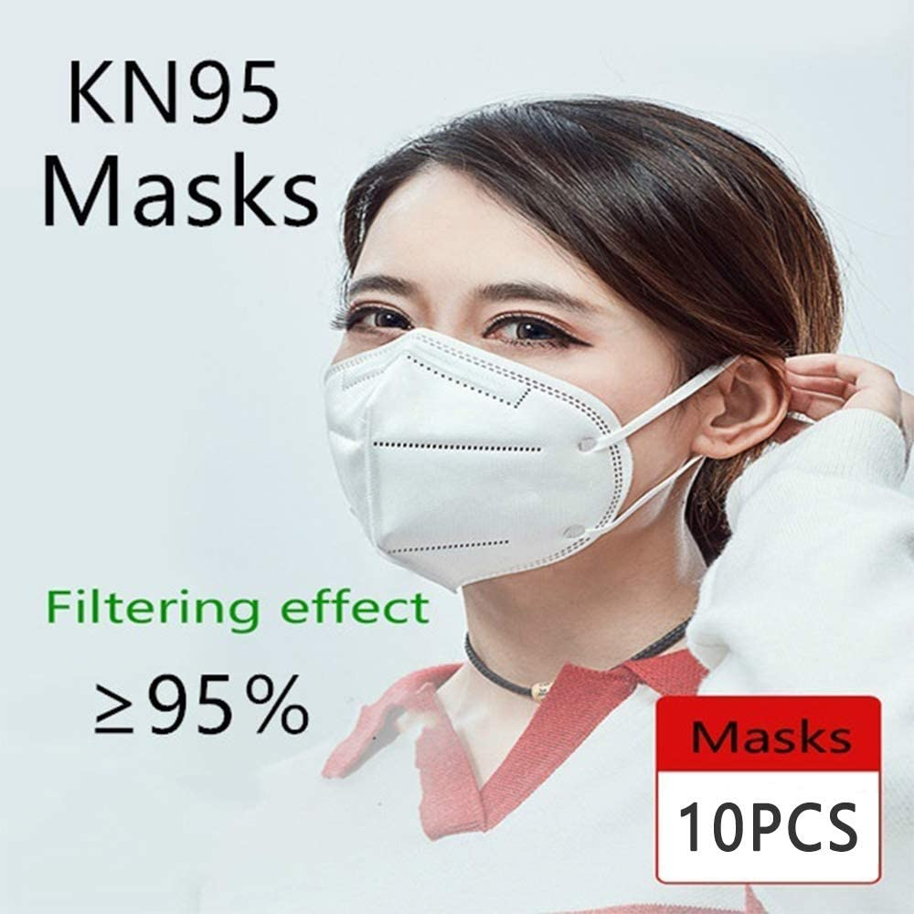 Pack of 10, 5 Layers Disposable Face Mašk Personal Protection Outdoor In stock Fullfillment By Amazon
