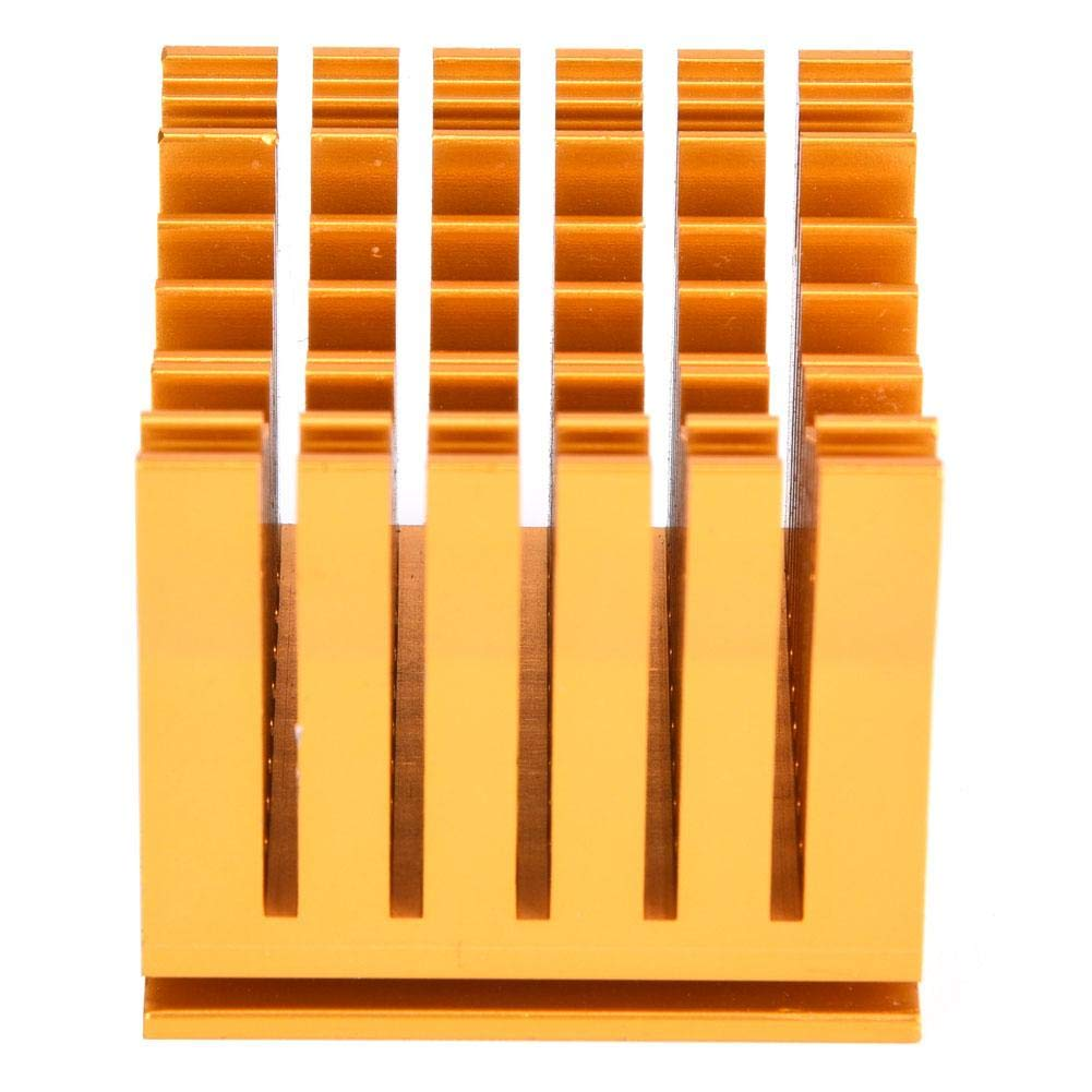 Heat Sink Cooler Module 43x40x36mm with Adjustable Button Silicone Set Gold Color Aluminum Shell for Printed Circuit Power Board