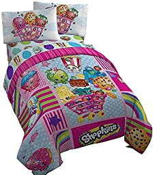 Shopkins Comforter and Twin Sheet Set Girls Bedding