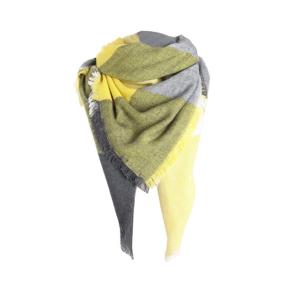 Bufanda de Invierno Suave para Mujer, con Costuras de Color clásico ...