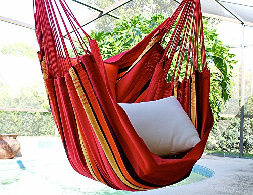Sweet Cherry – Fine Cotton Hammock Chair, Made in Brazil