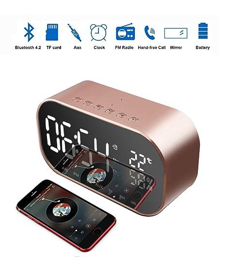 116b54dec9f Amazon.com  Radio Alarm Clock with Bluetooth Speaker