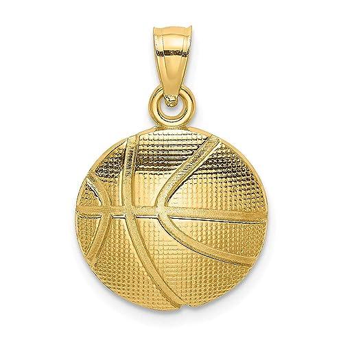 Abalorio de balón de baloncesto con textura 2D de oro amarillo de ...