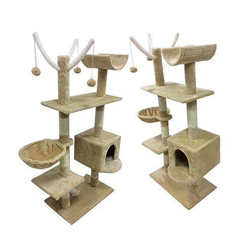Rascador de árbol para gatos, centro de actividades, para juguetes, con diseño de