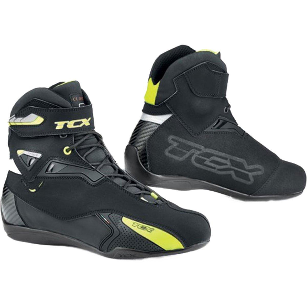 TCX Men's Rush Waterproof Street Motorcycle Boots - Black/Yellow Size 48