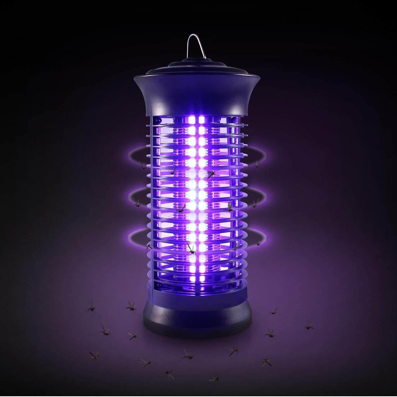 Moskito-Insektenf/änger f/ür den Innenbereich Insektenf/änger-Killer schwarz Ohuhu Insektenvernichter Leistungsstarker elektrischer Insektenvernichter mit UV-Lichtfalle und zus/ätzlicher Steuerung