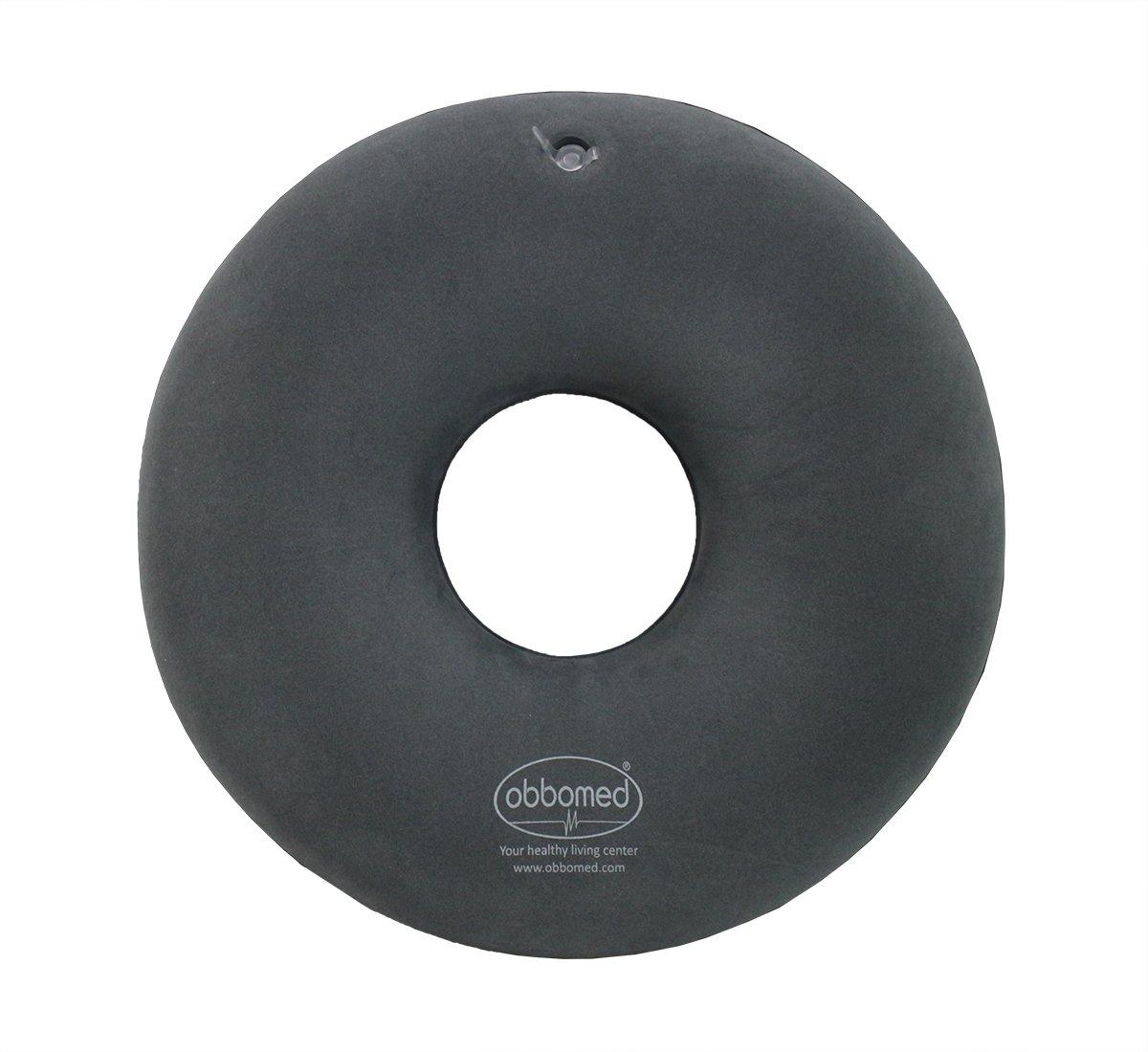 ObboMed SV-2500(38cm) - Cojín inflable plegable ortopédico con forma de anillo o donut para aliviar el dolor en pelvis, coxis, presión del coxis, ...