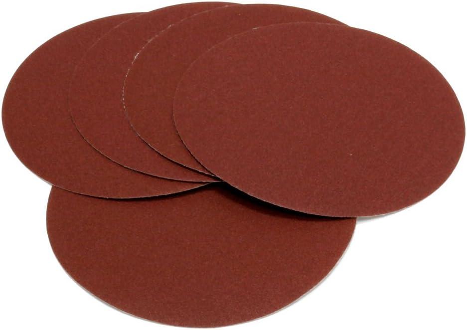 Huante Lot de 30 disques abrasifs ronds 125 mm Grain 80//100//120//180//240//320