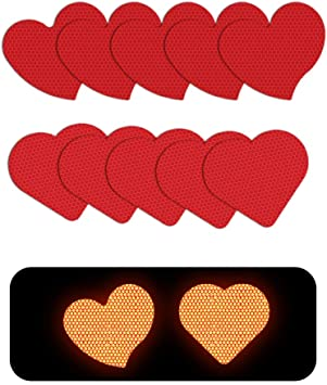 Muchkey Self-Adhesive Reflective tape Stickers Waterproof High Visibility Safety Warning Tape Stickers for Roller Skates bicycle motorcycle baby strollers DIY home decoration Red