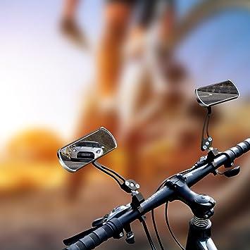 2 Stücke Fahrradspiegel Fahrrad Rückspiegel 360° Flachen Spiegel Lenkspiegel