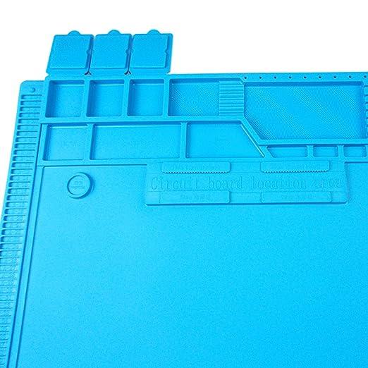 Anti Static Y resistente al calor Estera de soldadura silicona,para el soldador,teléfono y reparación de computadoras,plataforma de mantenimiento BGA de ...