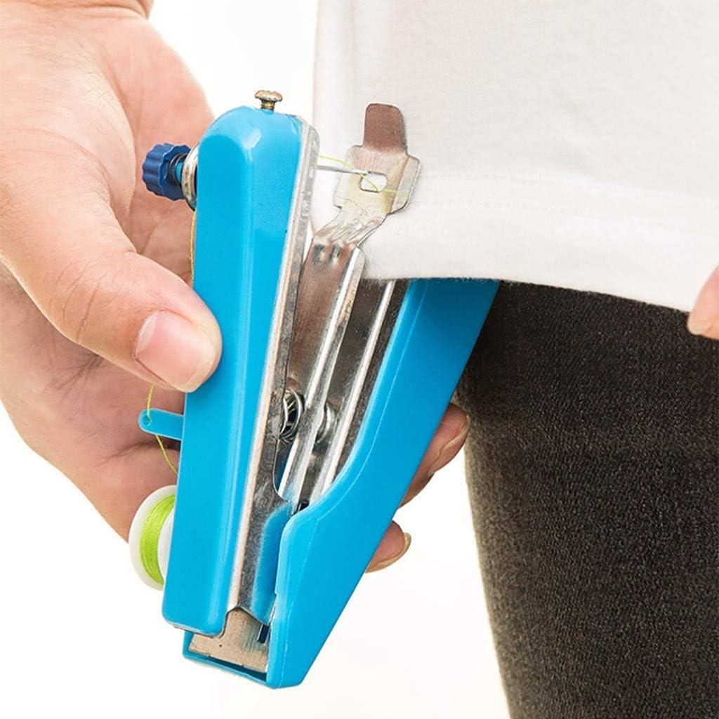 Handn/ähmaschine Fulltime Tragbare N/ähmaschine Mini-N/ähset f/ür Anf/änger DIY N/ähen-Leicht zu bedienen-11x7cm Blau