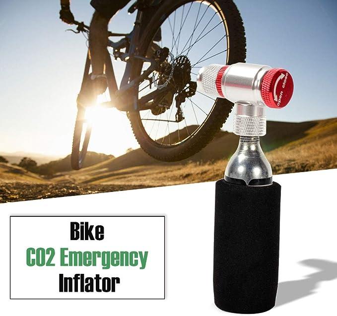 Lixada Bike Manual Inflador Cartucho Válvula Co2 Inflador Cartucho Adaptador Prestea Schrader Válvula Compatible: Amazon.es: Deportes y aire libre