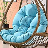 DULPLAY Hanging Chair Seat,Non-Slip Chair Pads,Swing Basket Cradle Wicker Chair Adult Rocking Chair Cushion Indoor Balcony Pad Soft-J 120x86x15cm(47x34x6inch)