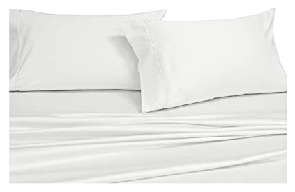 Royalu0027s Solid White 1000 Thread Count 4pc California King Bed Sheet Set 100