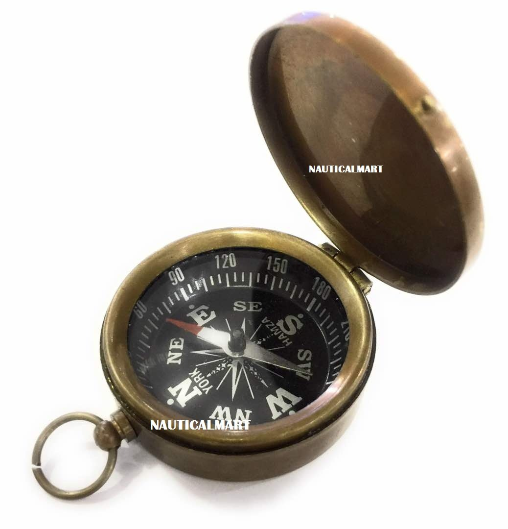 Antique Pirate Brass 2.5 Compass~NauticalMart NauticalMart Inc