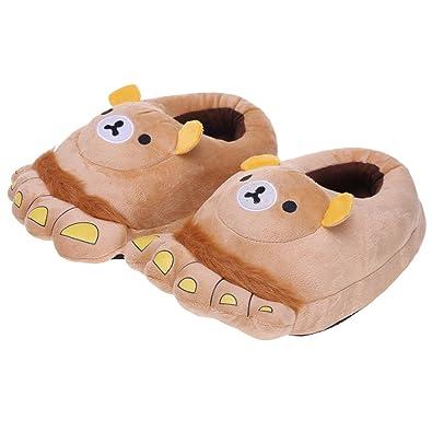 Amazon.com: Novedad Animal garras felpa Zapatillas Mocasines ...