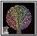 ARTomo【アトモ】パズル油絵『国内発送|フレーム付き』数字 油絵 DIY パズル塗り絵(ぬりえ) 本格的な油絵が誰でも簡単に楽しく描ける 20x20cm (生命の木)