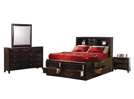 Amazon.com: Coaster Phoenix Juego de muebles para recámara ...