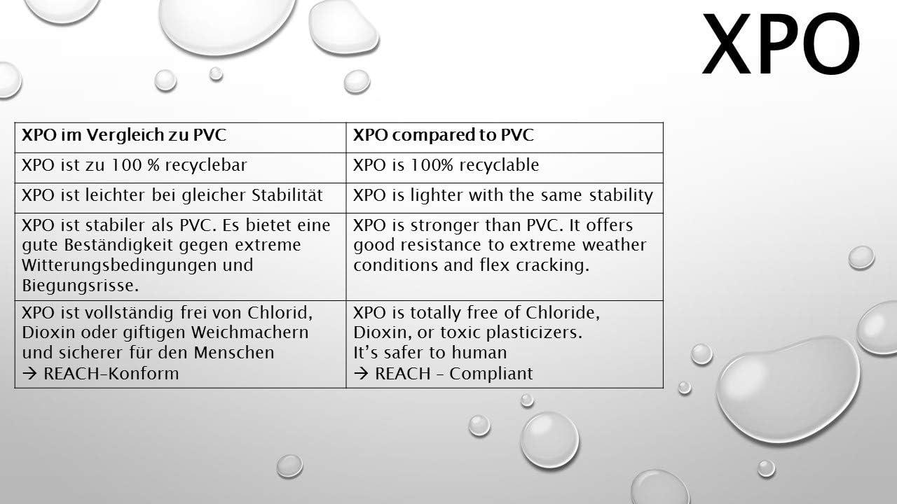 blanche B/âche avec oeillets en plastique b/âche pour une pile de bois XPO - tr/ès stable anti-UV imperm/éable XPO TYPE 270 b/âche pour bateaux sans PVC B/âche de protection