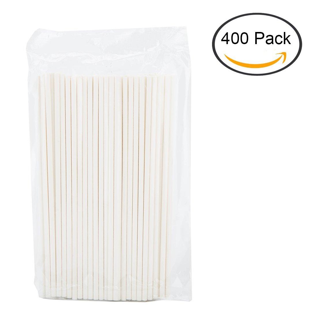 Tosnail 6-Inch Lollipop Sticks Cake Pop Sticks - 400 Pack